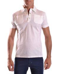 CoSTUME NATIONAL - Men's Mcbi074061o White Cotton Polo Shirt - Lyst
