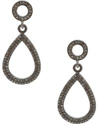 Adornia - Champagne Diamond And Sterling Silver Raina Earrings - Lyst