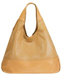 Mofe - Halcyon Perforated Leather Triangular Tote-style Shoulder Bag With Interior Zip Center Divide - Lyst
