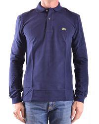 Lacoste - Men's Mcbi341016o Blue Cotton Polo Shirt - Lyst