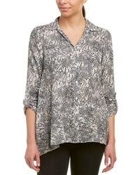 Jones New York - Linen-blend Top - Lyst