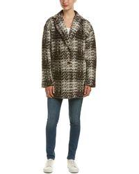 Bernardo - Tweed Wool & Mohair-blend Coat - Lyst