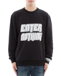 Lanvin - Men's Black Cotton Sweatshirt - Lyst