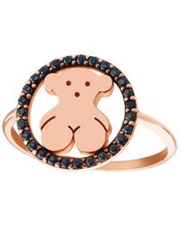 Tous - Women's Gold Metal Ring - Lyst