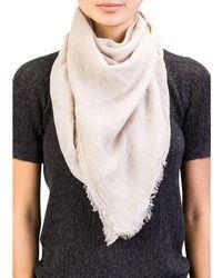 Versace - Collection Women's Cotton Beige Scarf - Lyst