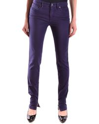 See By Chloé - Women's Purple Cotton Jeans - Lyst