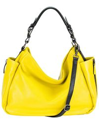 Mofe - Rhapsodic Pebble Leather Hobo-style Shoulder Bag With Padded Top Handle And Adjustable Strap - Lyst