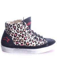 Ishikawa - Women's Multicolor Fabric Hi Top Sneakers - Lyst