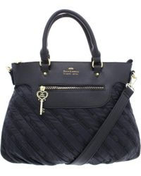 Juicy Couture - Womens Cloud Nine Faux Leather Trim Convertible Satchel Handbag - Lyst