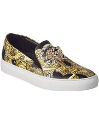 Versace | Barocco Leather Slip-on Sneaker | Lyst