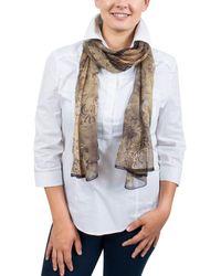 Emanuel Ungaro - Un7018 S8060 Floral Print Beige Silk Scarf - Lyst