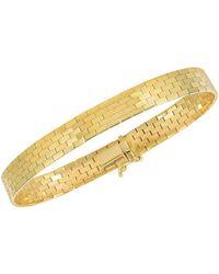 Jewelry Affairs - 14k Yellow Gold Rectangular Pattern Brick Omega Fancy Bracelet, 7 - Lyst