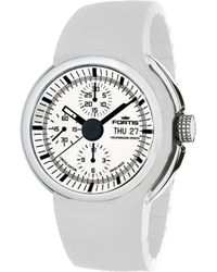 Fortis - : Men's Spaceleader,high Grade Steel,chronograph,designed By Volkswagon,white Dial,limited Edition Watch - Lyst