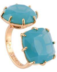 Les Nereides - La Diamantine 2 Frosted Blue Stones Toi Et Moi Ring - Lyst