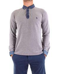 U.S. POLO ASSN. - Men's Blue Cotton Polo Shirt - Lyst