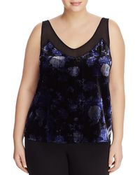 Lucky Brand - Womens Plus Velvet Floral Print Camisole Top - Lyst