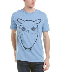 Knowledge Cotton Apparel - Knowledgecotton Big Owl T-shirt - Lyst
