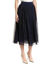 Trina Turk - Floris Silk-blend A-line Skirt - Lyst