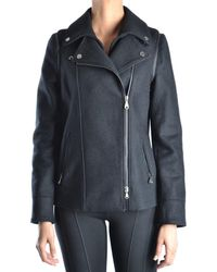 Guess - Women's Black Wool Jacket - Lyst