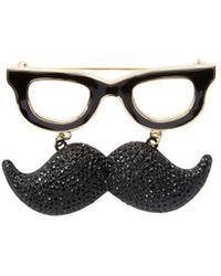 Kate Spade - 14k Plated Mustache Brooch - Lyst