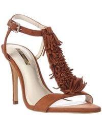 BCBGeneration - Fringe-trim Sandals - Lyst