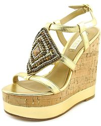 Lauren by Ralph Lauren | Womens Mattie Open Toe Casual Platform Sandals | Lyst