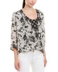d4045e4a91448 Tolani - Christelle Floral Silk Blouse - Lyst