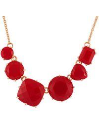 Les Nereides - La Diamantine 6 Vermilion Red Stones Necklace - Lyst