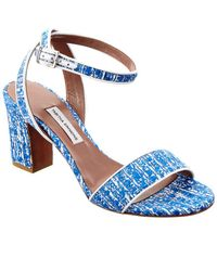 Tabitha Simmons - Leticia Tweed & Nappa Leather Sandal - Lyst