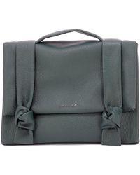 Orciani - Women's Green Leather Handbag - Lyst