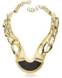 Vita Fede - Pluma Women's Gold Steel Necklace - Lyst