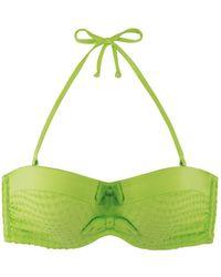 Marie Meili | Green Bandeau Swimsuit Top Nerida | Lyst