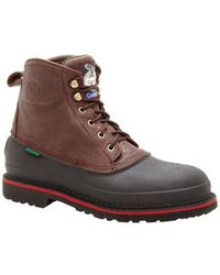 "Georgia Boot - Men's G66 6"" Safety Toe Muddog Comfort Core - Lyst"