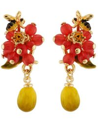 Les Nereides | Balad In Versailles Berries And Bee And Lemon Earrings | Lyst