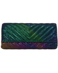 Whiting & Davis - Quilted Chevron Clutch - Lyst