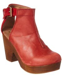 Free People - Amber Orchard Leather Clog - Lyst