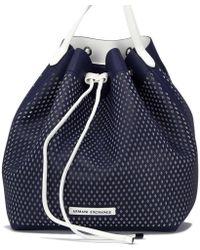 Armani Exchange - Women's 9420318p228blue Blue Polyurethane Shoulder Bag - Lyst
