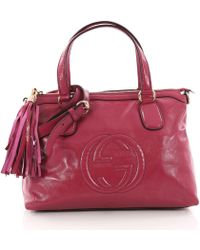Gucci - Pre Owned Soho Convertible Soft Top Handle Bag Patent - Lyst b564c22577707