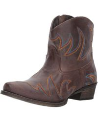 Roper - Womens Phoenix Leather Pointed Toe Mid-calf Cowboy Boots - Lyst
