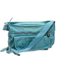 Kipling - Pre Owned- Blue Nylon Crossbody Messenger Bag - Lyst