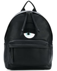 Chiara Ferragni - Women's Black Leather Backpack - Lyst