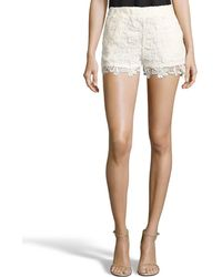 Romeo and Juliet Couture - Floral Lace Woven Shorts - Lyst