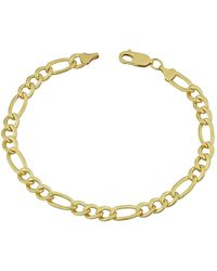 Jewelry Affairs - 14k Yellow Gold Filled Solid Figaro Chain Bracelet, 6.0 Mm, 8.5 - Lyst
