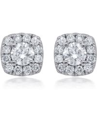 Diana M. Jewels - 18k White Gold Stud Earrings With 0.65 Carat Of Total Diamond Weight - Lyst