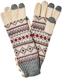 San Diego Hat Company - Women's Fair Isle Glove With Button Kng3464 - Lyst