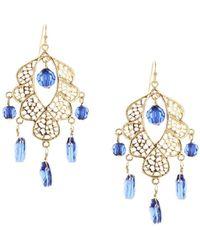 Sparkling Sage - 14k Plated Resin Chandelier Earrings - Lyst