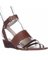 French Connection - Wiley Ankle-strap Wedge Sandals - Lyst
