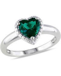 Catherine Malandrino | Simulated Emerald Heart Ring | Lyst
