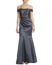 Badgley Mischka - Off-the-shoulder Mermaid Gown - Lyst