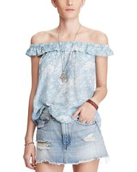 Denim & Supply Ralph Lauren - Floral Off The Shoulder Flounce Top - Lyst